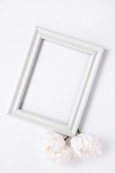 Mock-up of minimalist white frame