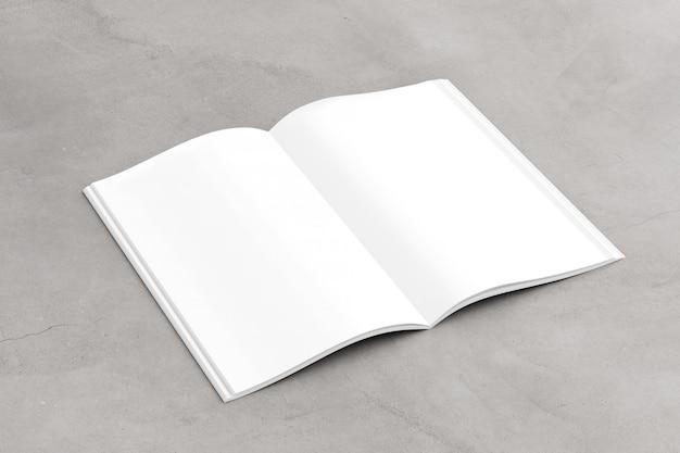 열린 잡지-3d 렌더링을 조롱