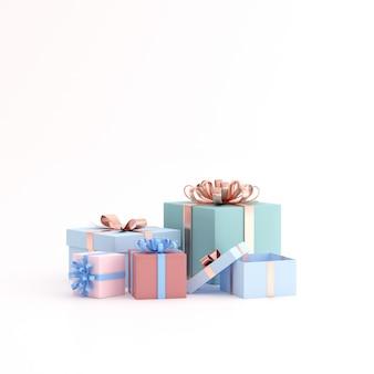 Макет подарочной коробке на пустое пространство.