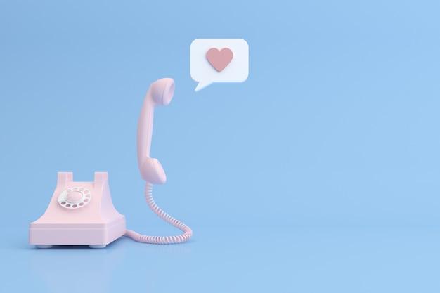 Макет телефона и речи пузырь.
