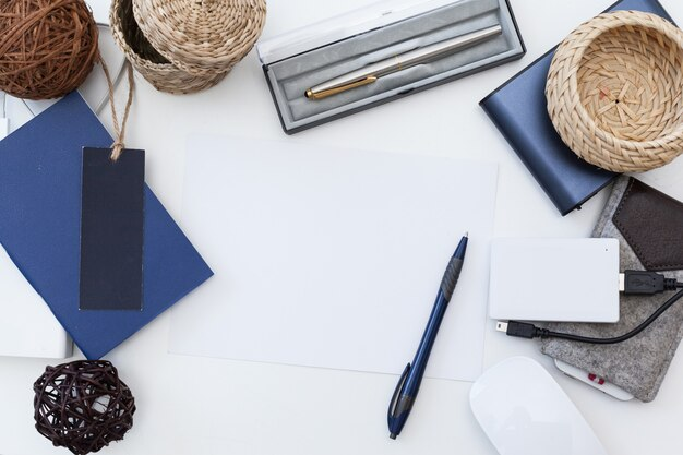 Mock up of office supplies