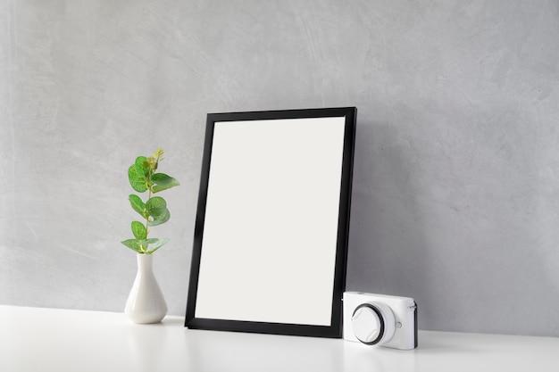 Mock up of photo frame.