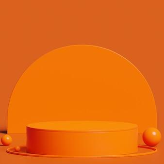 製品プレゼンテーションの抽象的な最小限の概念のための表彰台をモックアップ