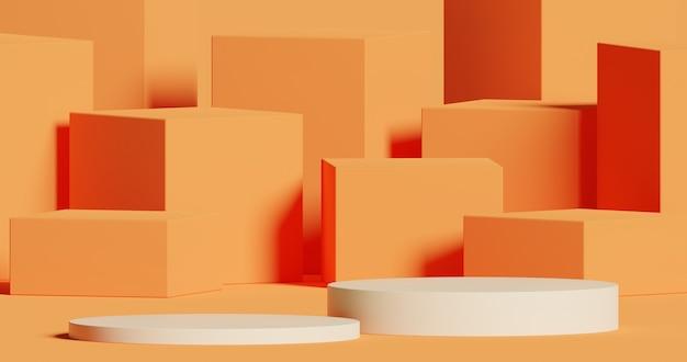 제품 프레젠테이션 추상적인 최소 개념을 위한 모의 연단