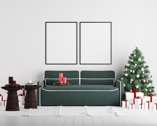 モチーフポスターフレームクリスマス新年のインテリアの背景