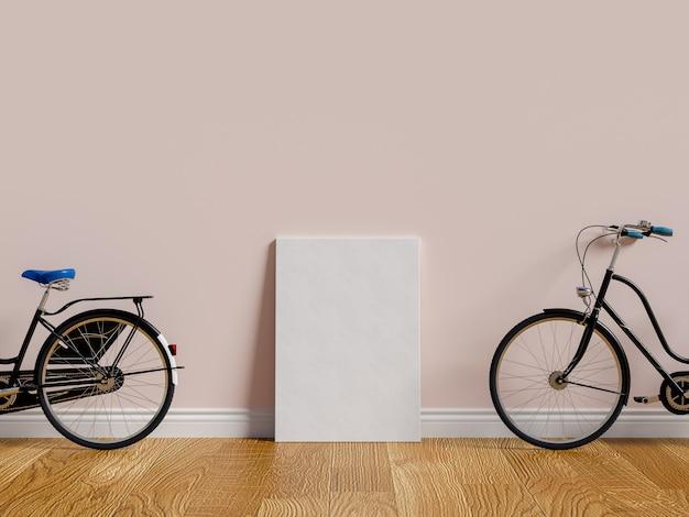 部屋の公園の自転車にポスターを飾ってください。