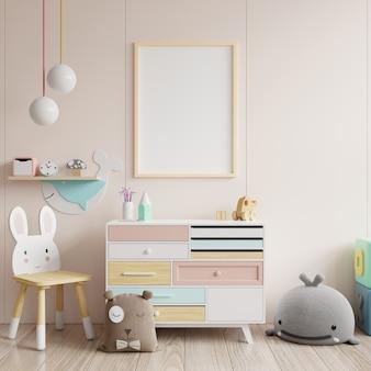 Макет плакатов в интерьере детской комнаты