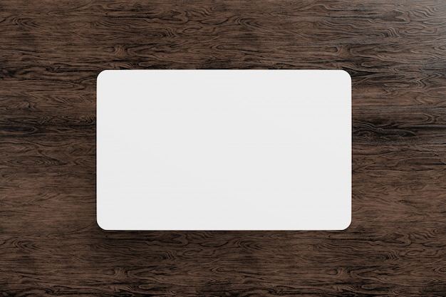 Mock up of a rounded corner card - 3d rendering