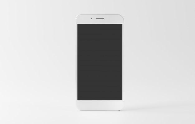 Mock up of a smartphone isolated  with shadow - 3d rendering