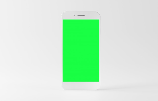 Mock up of a smartphone isolated