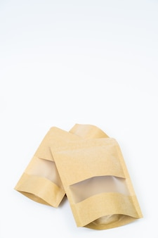 Макет закуски бумажный пакет на пустое пространство