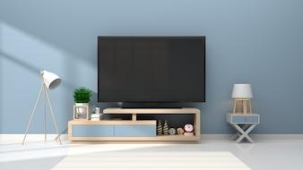 Макет телевизионной комнаты в интерьере интерьера