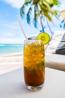 ビーチでmocktail