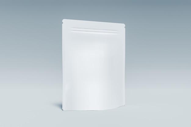 Мокап-пакет добавок с белой поверхностью