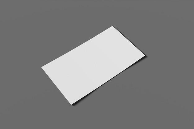 Макет пустой бизнес или визитная карточка на сером фоне 3d-рендеринга