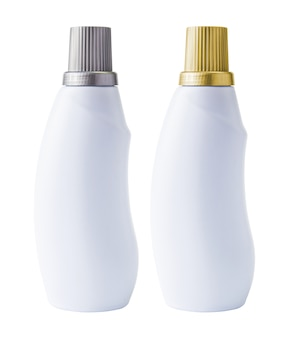 Mockup bottle on white background