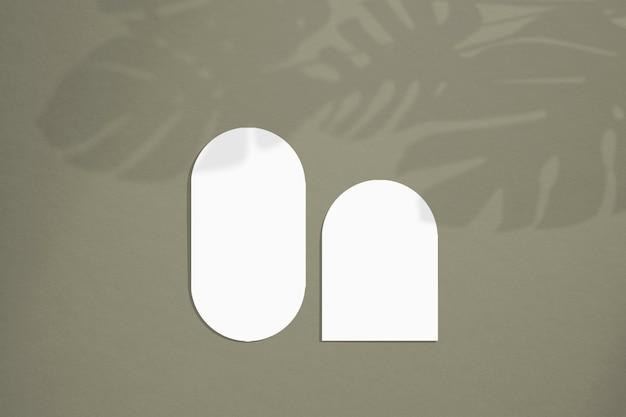 Мокап карты в минималистичном стиле