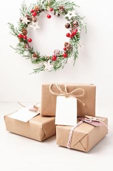 Mockup christmas and new year gifts