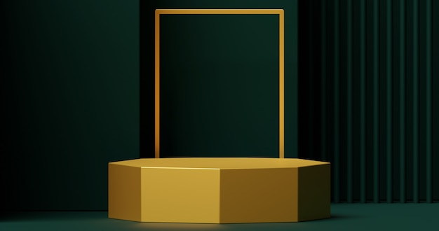 製品プレゼンテーション用のモックアップゴールデン表彰台