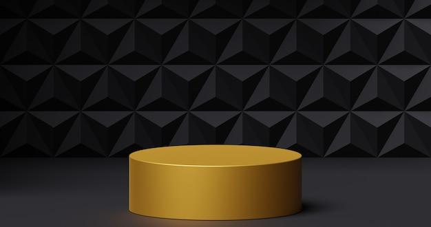 제품 프레젠테이션을 위한 모형 황금 연단