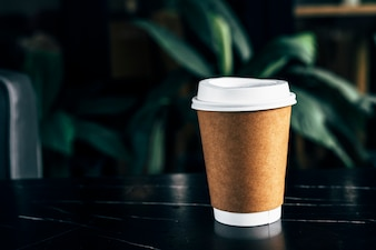 Mockup of a disposable coffee cup