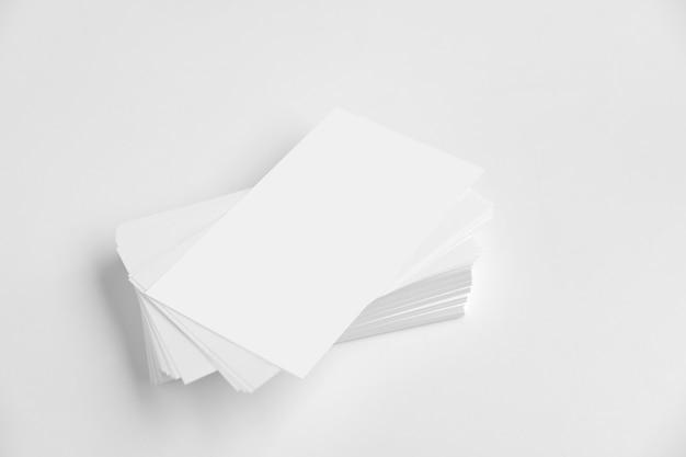 Макет пустых визитных карточек