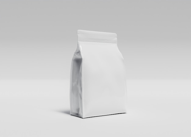 Макет большого пакета добавок или корма для животных с белой поверхностью