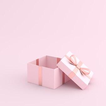 Макет открытой подарочной коробки с лентой