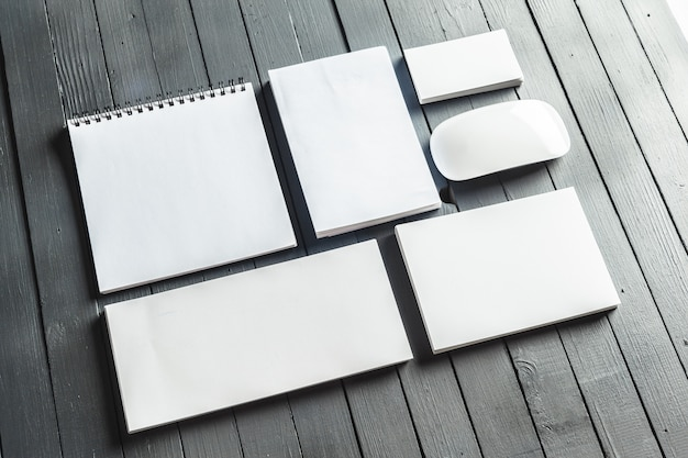 Mockup of office supplies