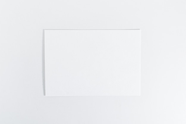Mockup of paper sheet on white background