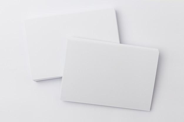 Макет фото визитной карточки изолированные