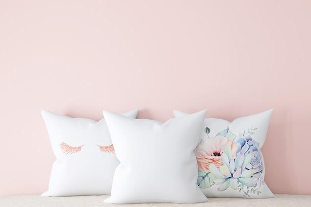 Подушка-макет mockup throw pillow в стиле стоковой фотографии
