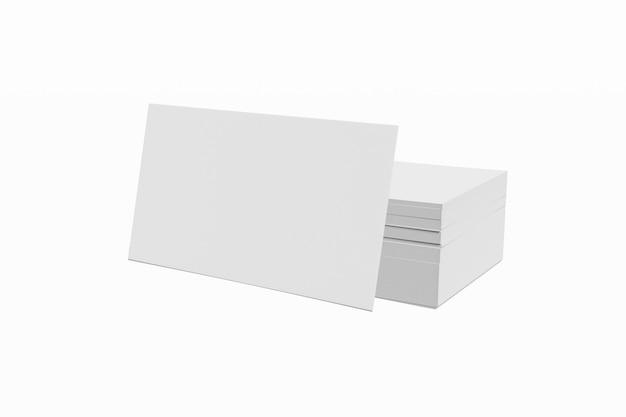 Макет стопку пустой карты на белом фоне 3d-рендеринга