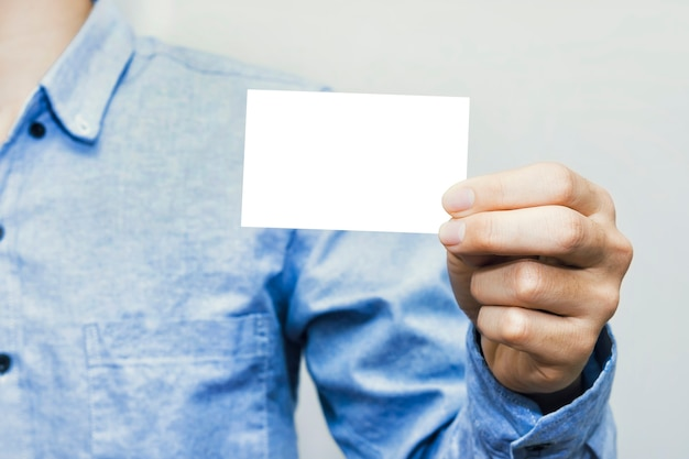 Mockup template white paper or showing business cards.