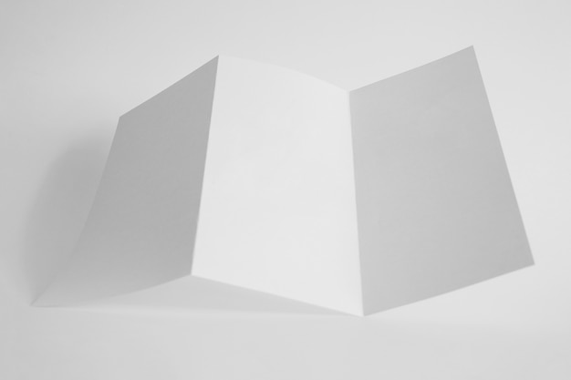 Mockup of trifold paper