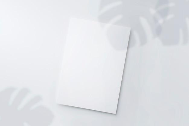 Mockup of white sheet of paper