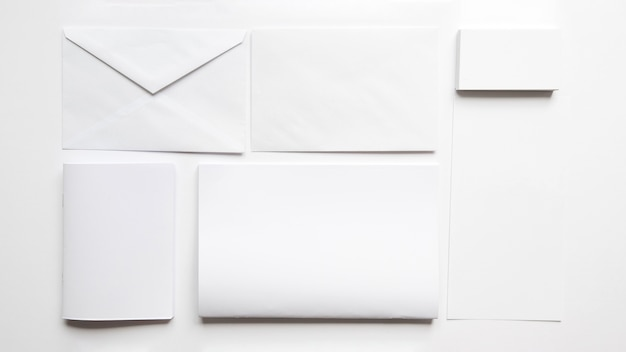 Mockup with letters and envelope
