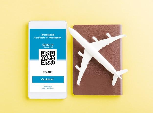 Паспорт модели самолета и пропуск неприкосновенности оформляются приложением на смартфоне.