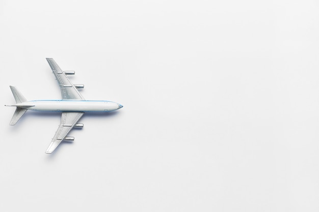 Model airplane on a white background