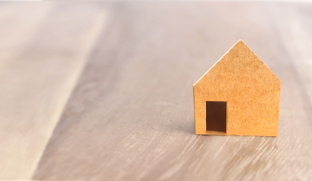 Model of detached house, home idea