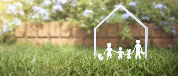 Model of detached miniature house  mock up. property real estate investment concept