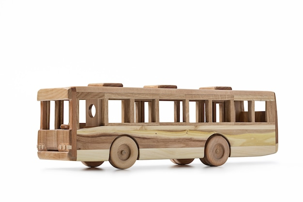 장난감 버스의 나무에서 모델