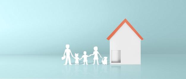 모델하우스. 부동산 임대, 구매 및 판매 개념입니다. 부동산 서비스, 건물 수리 및 유지 보수