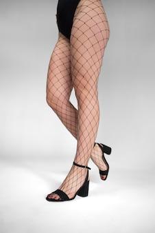 パンストストッキングのモデル脚