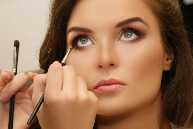 Model and makeup artist