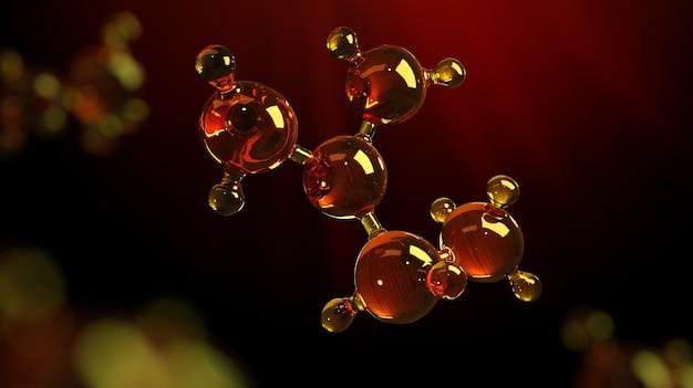 Model of molecule in microscope vision