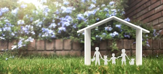 Макет отдельно стоящего миниатюрного дома. макет. концепция инвестиций в недвижимость