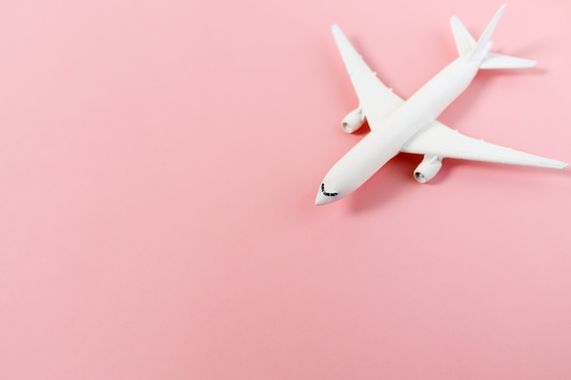 Model plane,airplane on pastel color background