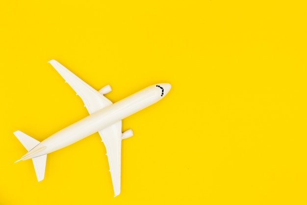 Model plane, airplane on pastel color background