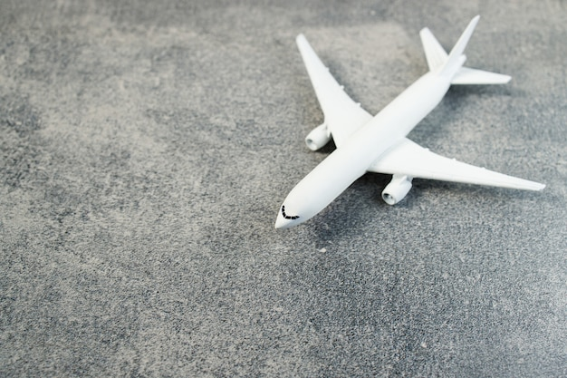 Model plane, airplane on pastel color